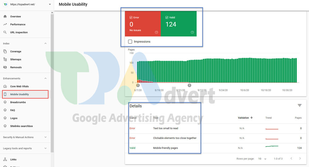 mobile useability in webmaster